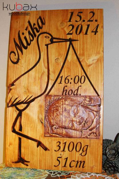 drevená darčeková tabuľa