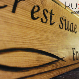 drevený citát na stenu