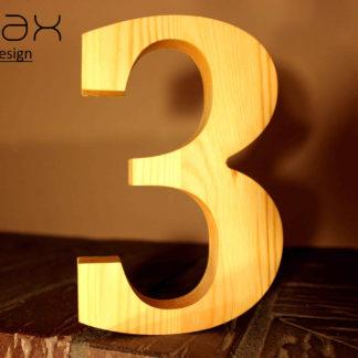drevené číslo na dom