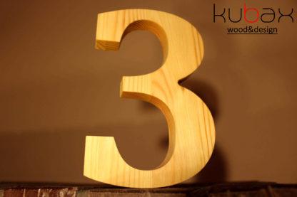 drevené číslo