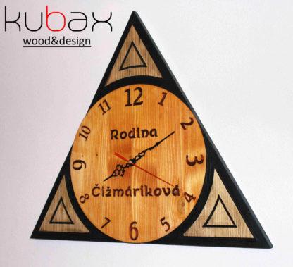 hodiny z dreva na stenu