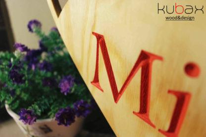 drevený nápis pán a pani