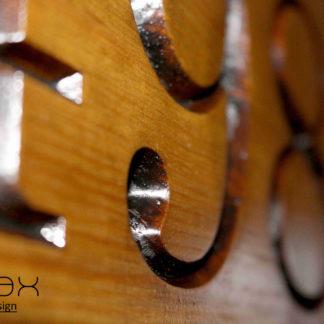 číslo domu drevené